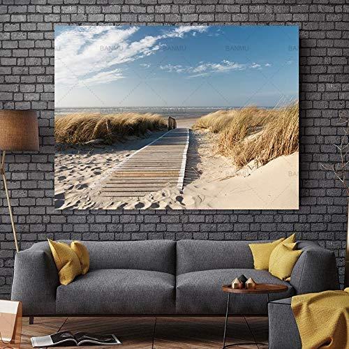 yaoxingfu Kein Rahmen Leinwandbilder Fotodrucke Strandansichten Wandbilder Leinwandbilder Wanddekorationen Kunstwerke Giclée-Drucke 60x90cm