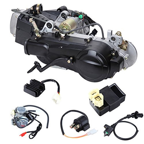 Iglobalbuy 4-Stroke 150cc Gy6 Scooter Atv Complete Engine W/Carburetor CDI Starter Solenoid Coil