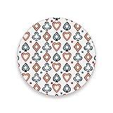 Montoj - Posavasos con diseño de tarjetas de póquer divertidas para bebidas, regalo único para amigos, absorbentes posavasos para bebidas, madera, 1, 1 piece set