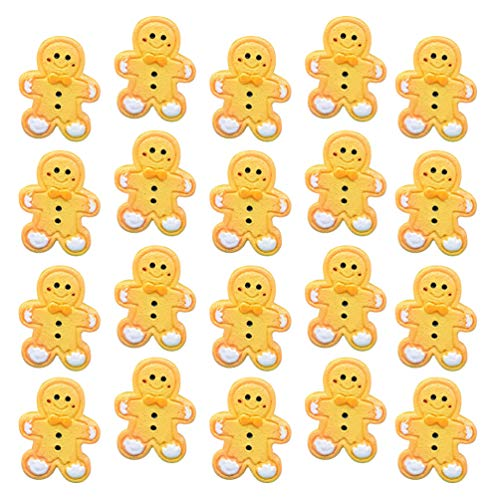 TOYANDONA 20pcs Christmas Resin Flatback Embellishments Gingerbread Man Christmas Slime Charms for Jewelry Making DIY Crafts Scrapbooking Hair Clips