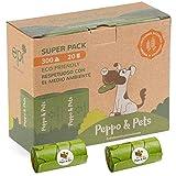 Peppo and Pets- 300 Bolsas Caca Perro - 20 Rollos- Biodegradables- Muy Resistentes - Olor a Lavanda- Opacas- A Prueba de Fugas
