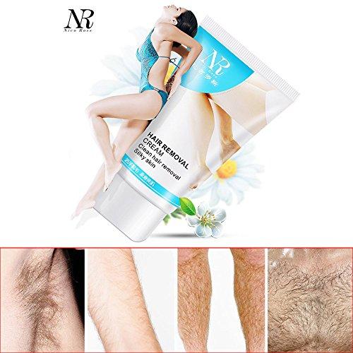Haarentfernungscreme Frauen Schmerzlos Enthaarungscreme, dauerhafte Körper-Haarentfernungscreme, Schnell und Einfach Haarentfernung für Leg Schamhaare Achselhöhle, 60g