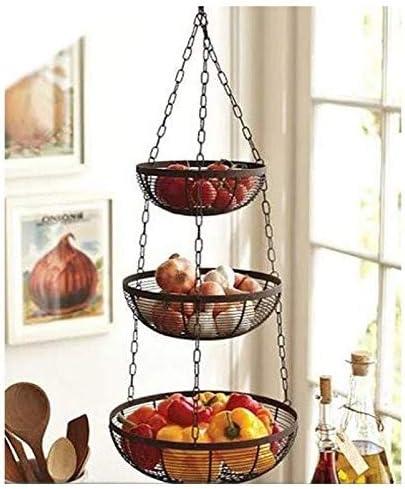 Amazon Com It S Useful 3 Tier Hanging Fruit Basket Black