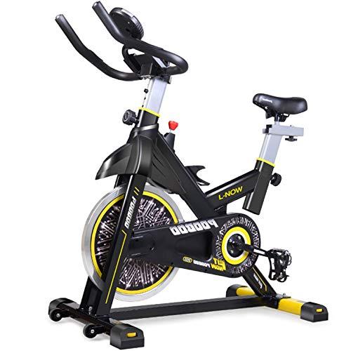 YDYGSport Upright hometrainer, Speedbike met low-noise riemaandrijving - incl.flooring mat Smartphone App