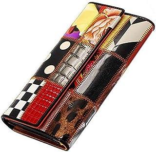 Wallet Women Genuine Leather multicolor Cow Leather Lady Purse women Wallet