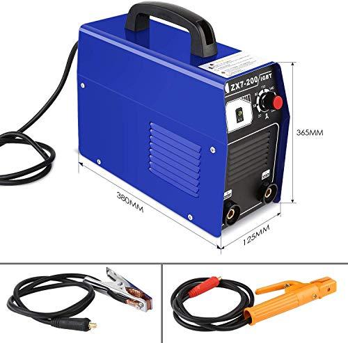 FIXKIT Electrodo de Corriente Continua para Soldador Portátil IGBT, 220 V, Inversor 20-200A, Soldador Eléctrico Doméstico VIVIENDA INCLUIDA