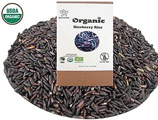 100% USDA Certified Organic Riceberry Rice - Healthy Gourmet Superfood - Purple Thai Black Jasmine Rice from Thailand - Gluten-free