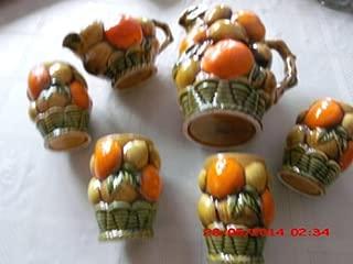 Inarco 1960's Piece Set Orange Spice, 1 Creamer E3558, I Pitcher E3378 6 1/2