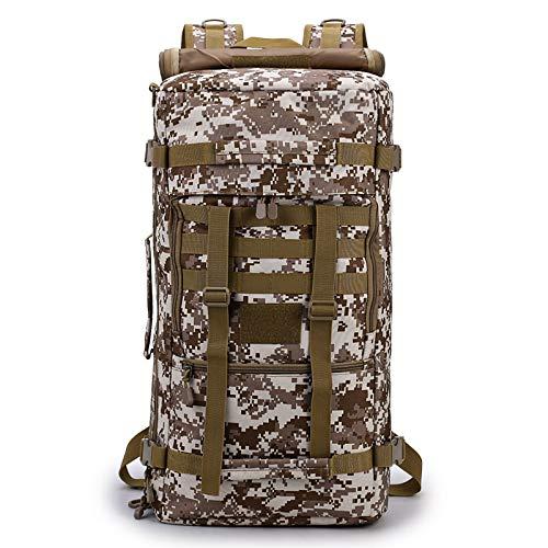 Generies - 1 sac à dos tactique multifonction camouflage - Sac à dos de randonnée - 55 l - Imperméable - Résistant à l'usure - Haute respirabilité, camouflage