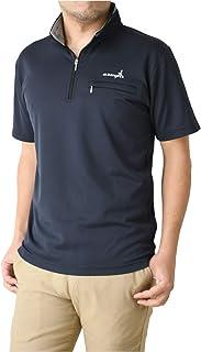 (アルバトロス) ALBATROSS [A15] ドライ ストレッチ ポケット付き ハーフジップ ポロシャツ メンズ 半袖 ゴルフウェア