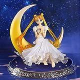 13cm japanische Anime Sailor Moon 20th Anniversary Stattliche Wächter Tsukino Usagi PVC Action-Figur Spielzeug Flügel Kuchen Puppe