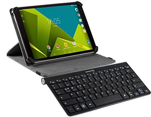 Navitech Case / Cover / Tasche / Hülle mit Standfunktion und QWERTY Bluetooth Keyboard für das Vodafone Tab Prime 6 9.6