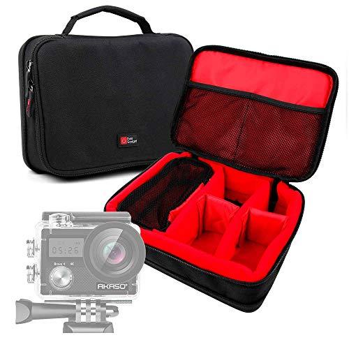 DURAGADGET Bolsa Acolchada Profesional Negra con Compartimentos e Interior en Rojo para...