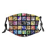 Super Smash Bros Ultimate All Character Máscara facial lavable para adultos, reutilizable y ajustable, cubrebocas para cuello