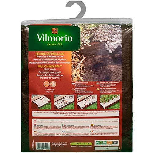 Vilmorin Feutre de Paillage 1.6 x 5 M Toiles, Naturel
