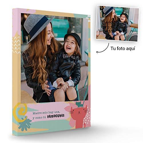 Fotoprix Lienzo Personalizado con Foto para Mamá | Regalo Original día de la madre | Varios diseños y tamaños (Madre 2, 30 x 40 cms)