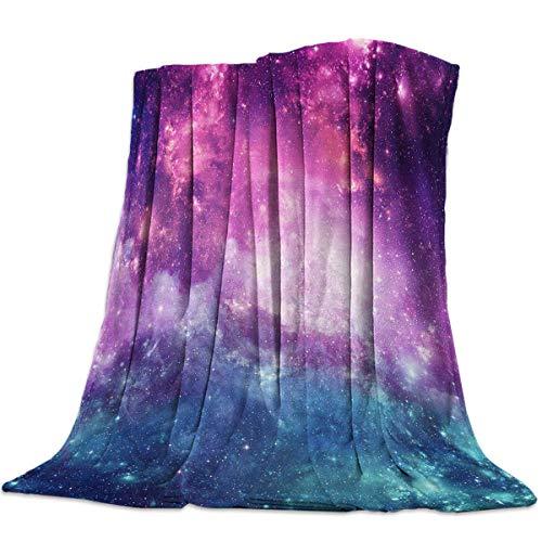 AEMAPE Manta de Tiro, Manta Ultra Suave, Manta Ligera y acogedora, Cielo Estrellado Misterioso púrpura, Hermoso Espacio de ensueño Espectacular 60 'x50'