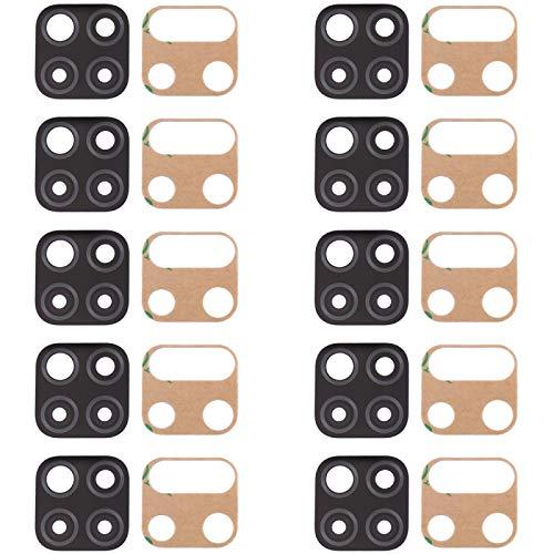 Hdfht 10 Piezas Originales Volver Lente de la cámara para Huawei P40 Lite Piezas de Repuesto de Huawei (Color : Black)