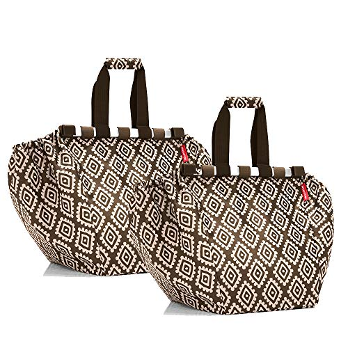 reisenthel easyshoppingbag 2tlg. Einkaufstasche Einkaufsbeutel shoppingbag easybag (Diamonds Mocha + Diamonds Mocha)
