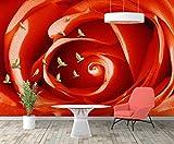 Cowallpaper Tapete 3D Sofa-Wohnzimmerkunst Fernsehhintergrundwand Des Rotrosenölgemäldes Natürliche Bild Hd Seide Wandbild Tv Schlafzimmer Wohnzimmer Küche-A-150Cmx100Cm