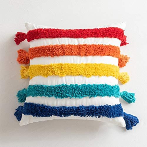 LQF Arco Iris Almohadas Son adecuados for Cojines del sofá de Noche Almohadas Decoraciones y Presidente Cojines.Se Puede Elegir Entre 4 Colores y Estilos Amortiguar-10.16
