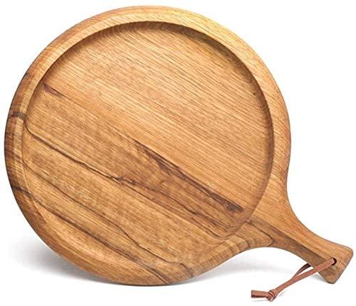 TQJ Tabla de Quesos Con Utensilios Tablas de cortar, tabla de cortar redonda/cuadrada Tabla de cortar de madera cuadrada Grande de madera Bandeja Pan Tablero Tarjeta Placa Placa Placa Bandeja Cocina