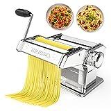 Pasta Maker, Manual Hand Crank Pasta Machine,...