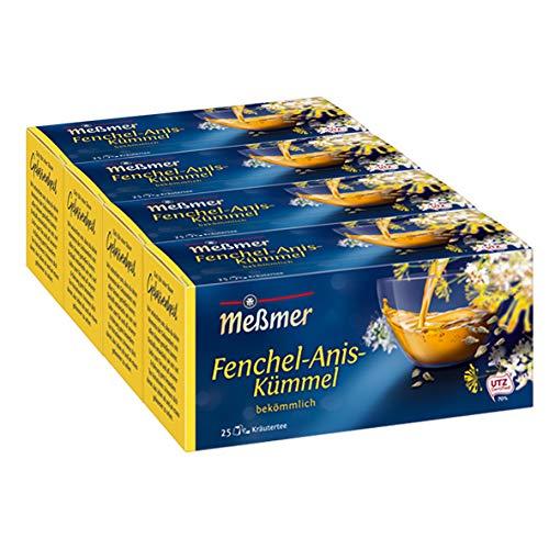 Meßmer Fenchel/Anis/Kümmel 25 TB, 4er Pack  (4 x  50 g Packung)