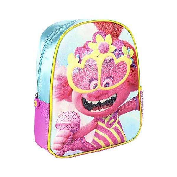 51ekQnO4FrL. SS600  - Cerdá, Mochila Infantil Trolls 3D con Purpurina-Licencia Oficial Dreamworks Studios Unisex niños, Multicolor…