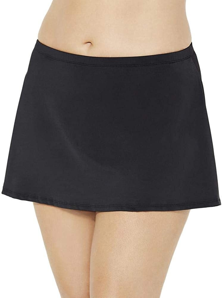 Swimsuits For All Women's Plus Size Chlorine Resistant A-line Swim Skirt