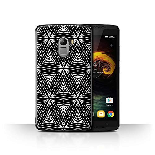 Phone Case for Lenovo Vibe K4 Note Black Fashion Abstract Shapes Transparent Clear Ultra Slim Thin Hard Back Cover