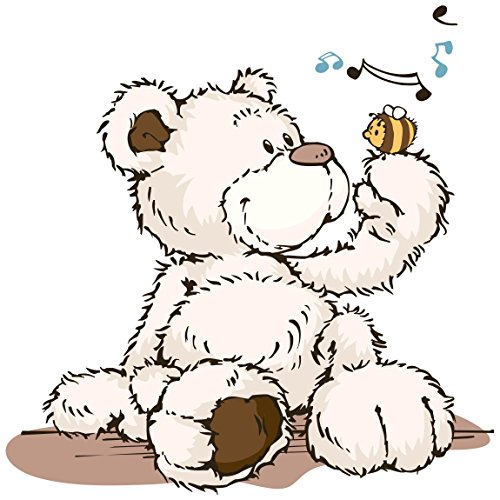 Bilderwelten Wandtattoo NICI Classic Bear singt, Sticker Wandtattoo NICIs Wandsticker Wandbild, Größe: 60cm x 60cm