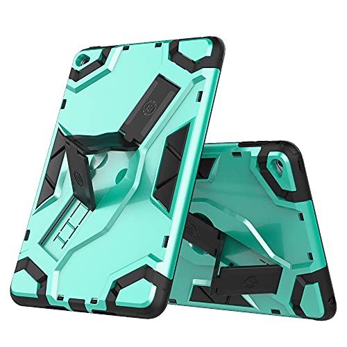 SENSBUN Funda para tablet iPad Mini (7.9'') (2019) (5ª generación), resistente armadura suave TPU y cubierta de PC dura con correa de mano antideslizante y soporte a prueba de golpes, verde claro
