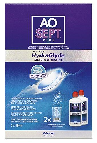 Aosept Plus mit Hydraglyde Kontaktlinsen-Pflegemittel, Vorratspackung, 360 ml (2er Pack)