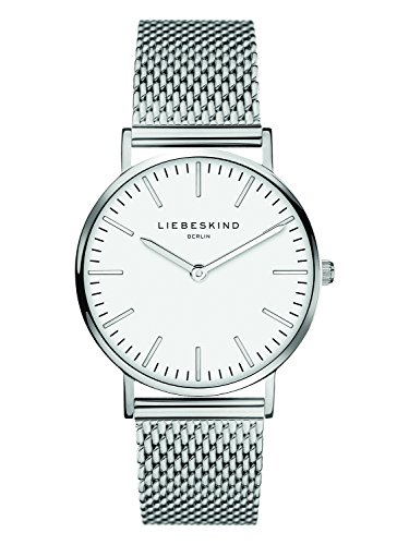 Liebeskind Berlin Damen Analog Quarz Armbanduhr mit Edelstahlarmband LT-0075-MQ