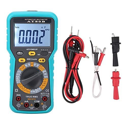Electrotécnico Digital Multímetro, multímetro Digital AT80B LCD, voltímetro Digital, amperímetro, ohmímetro, multímetro, voltio, medidor de probador de CA CC