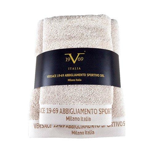 Versace Set 3 Toallas (70x140 cm; 50x90 cm; 30x50 cm) 100% algodón en Color Blanco Melea 19v69