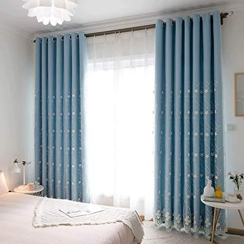 Gordijnen in Koreaanse stijl, rood met Hollow Star gordijnen, afgewerkte producten, zonder druk, voor woonkamer, slaapkamer, ramen, voorruit, isolerend gordijn Width 150*height 270cm (curtain) 24