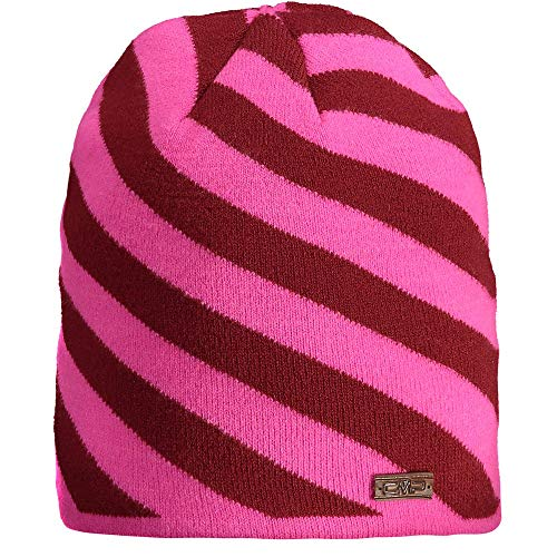 CMP Mädchen Berretto Knitted colorato Stretch hat, Pink Fluo, Einheitsgröße