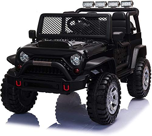 Ride On Truck, Electric Vehicles Ride On Car for Kids w/ Remote Control, Music, MP3 Player, Bluetooth 2 Seater Light