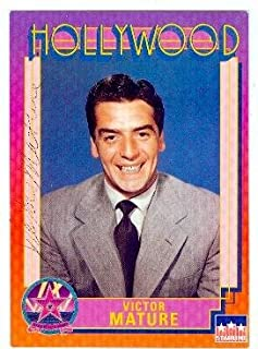 Autograph 189382 Samson & Delilah Actor 1991 Hollywood Walk of Fame No. 87 Victor Mature Autographed Trading Card