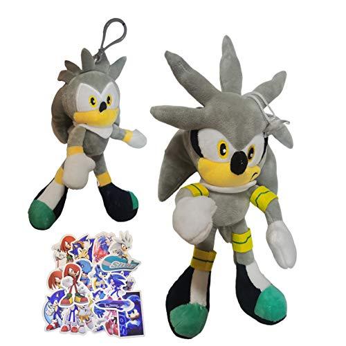 Juguetes de peluche Pose de anime colgante producido adornos para niños versión q muñeca sónica erizo que rodea super juguetes hechos a mano