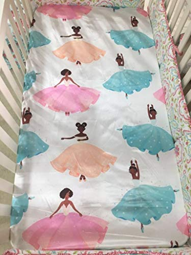 Beddings Place Satin Crib Fitted Sheet for Baby, Toddler Bed, daybed to retain Hair Moisture Size (Standard Crib Sheet)