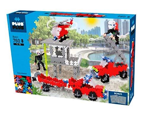 Plus-Plus 9603776 Geniales Konstruktionsspielzeug, Basic, Feuerwehr, Bausteine-Set, 760 Teile, bunt