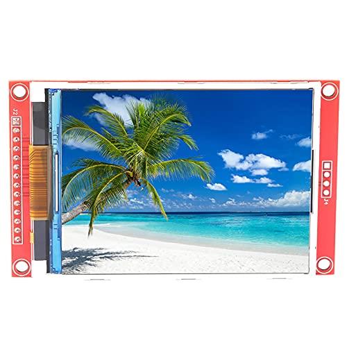 Módulo de pantalla LCD, 3,2 pulgadas 240 * 320 Interfaz periférica en serie Módulo de pantalla LCD TFT de 65.000 colores con caja para tarjetas de memoria y placa controladora LCD(Con toque)