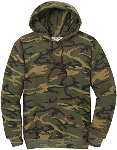 Joe's USA Camoflauge Hooded Sweatshirt,Large Military Camo