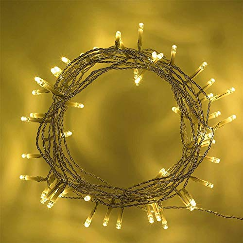 SHATCHI 40 LED Warm White Battery Operated Powered Fairy String Lights Christmas Tree Wedding Birthday Garden Party Window Decorations