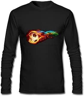 Tommery Men's Logo Image Long-Sleeve Cotton T-Shirt XXXL