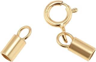 6 extrémités-Ø 9 mm-bronze bracelet fabrication Mousqueton