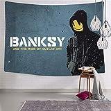 423 Banksy Graffiti-Kunst-Tapisserie Wandbehang Dekorationen Dekoration Wohnzimmer Strand Tuch...